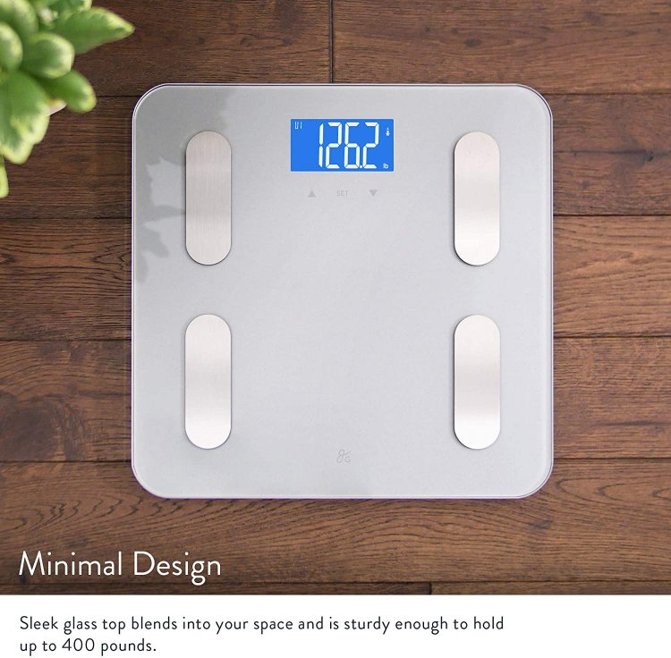 $14.97 (50% OFF) GreaterGoods Digital Body Fat Weight Scale (2019 Update), Body Composition, BMI, Muscle Mass and Water Weight