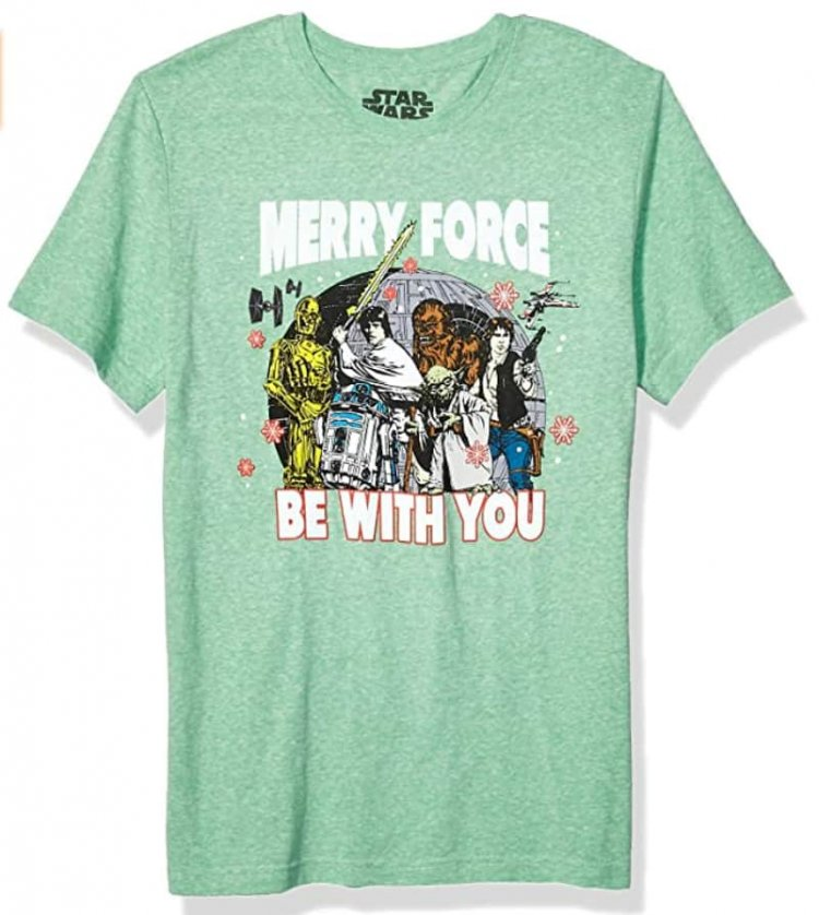 """Star Wars Men's Ugly Christmas T-Shirt """"Merry Force Be With You"""" (X-Large) $5.20 & More - Amazon"""
