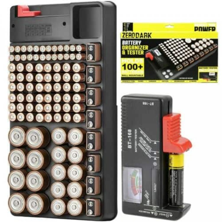 Zerodark Battery Organizer With Removable Battery Tester Holds 110 Batteries. $12 (eBay Daily Deal)