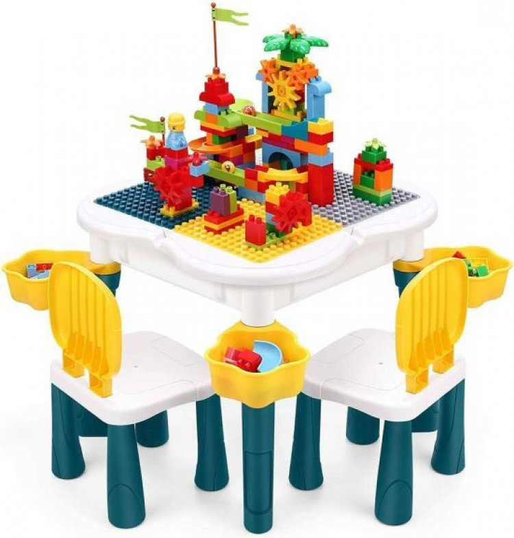 Amazon: INKPOT 5 in 1 Kids Activity Table with 2 Chairs for $44.99