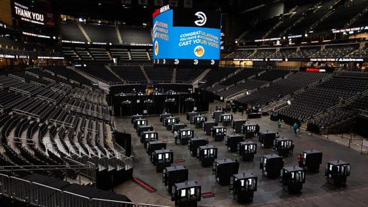 NBA Arena voting centers were in the heart of Atlanta, Detroit, other cities
