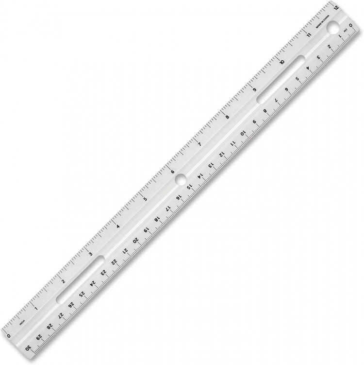 Business Source 12-Inch Plastic Ruler, White $0.46 + FS w/ Prime