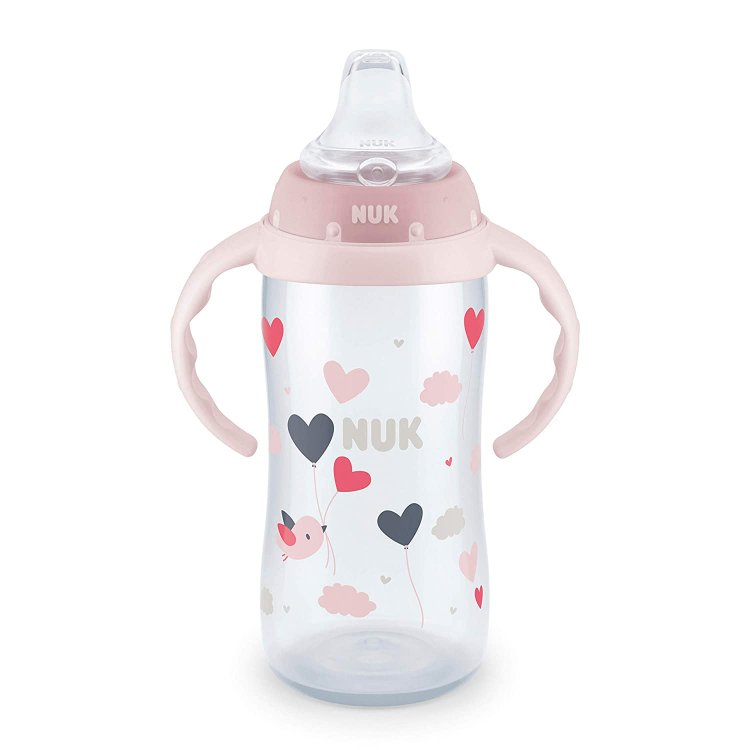 10 oz. NUK Learner Sippy Cup (Pink Hearts or Blue Instruments) $4.89 - Amazon
