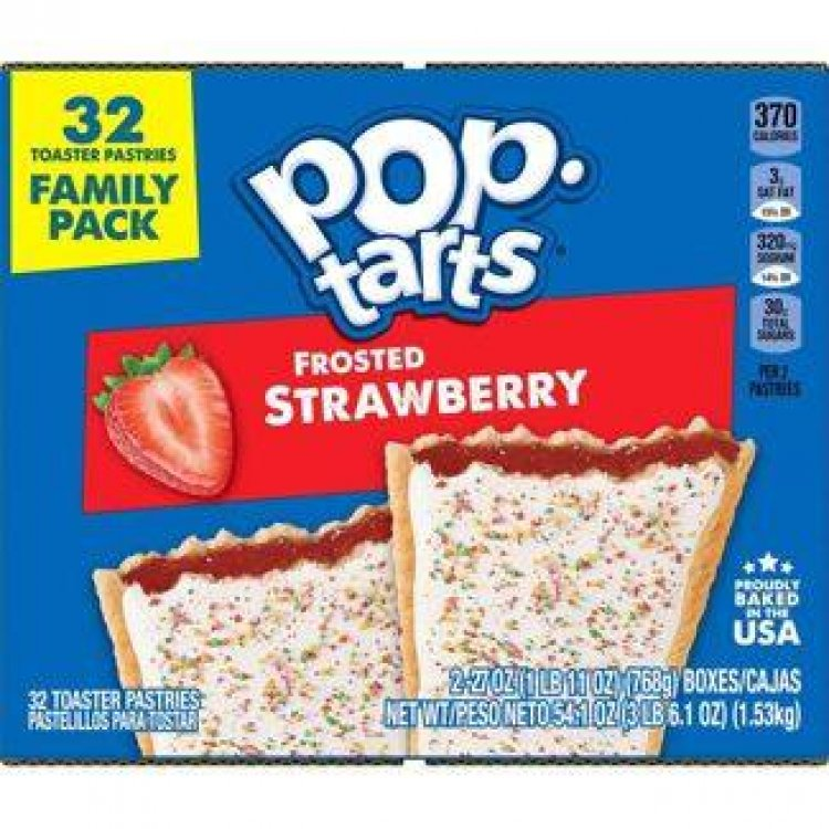 32-Count Kellogg's Pop-Tarts Toaster Pastries (Frosted Strawberry) $5.69 w/ S&S + Free Shipping w/ Prime or $25+