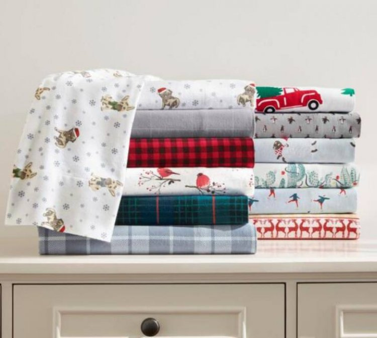 4-Pc Home Decorators Collection Cotton Flannel Bed Sheet Set: King $27.50, Queen $20 + Free Curbside Pickup