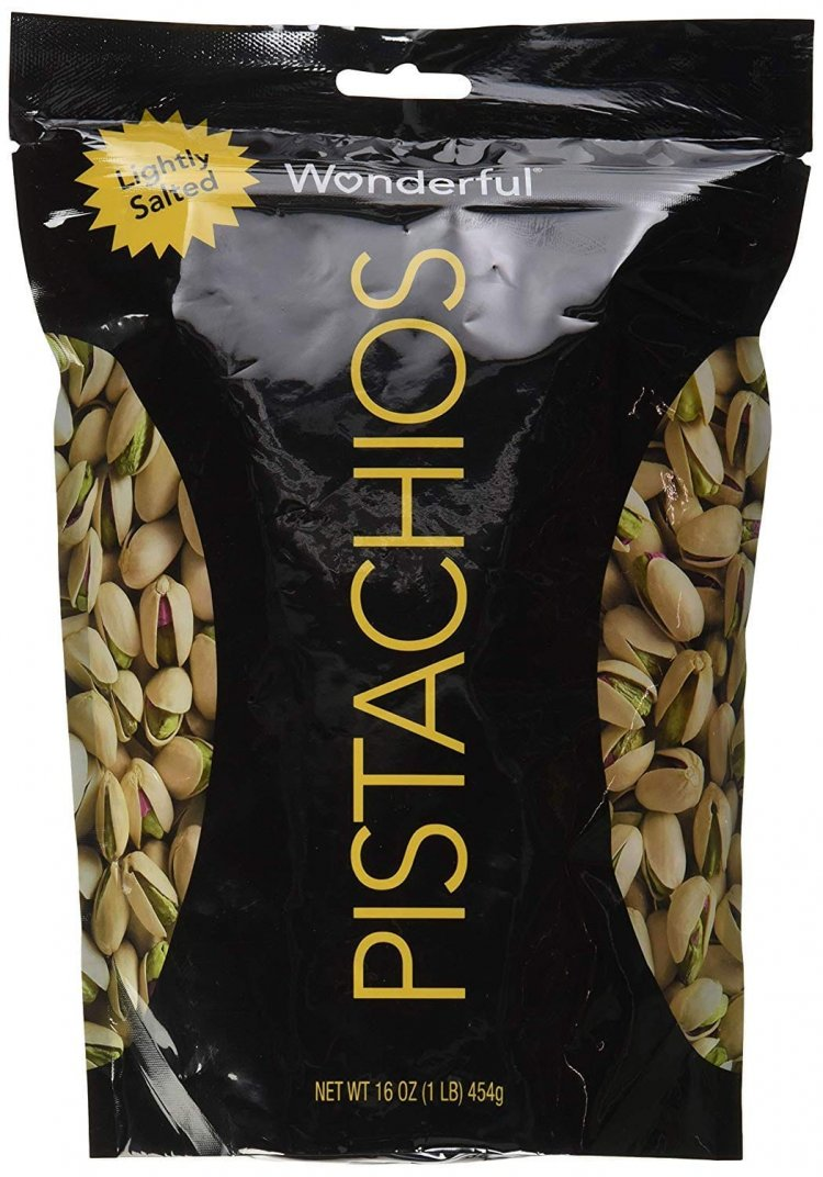 Wonderful Pistachios Roasted &, Resealable Bag, Lightly salted, 16 Oz $5.97