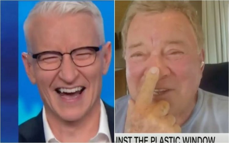 William Shatner's Space Interview With Anderson Cooper Takes A Filthy Turn